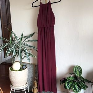 Merlot Empire Waist Maxi Dress Size S